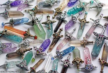 June Crystal Swords - ideationox