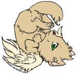 Winged Wolf Cub by Keza-Kat