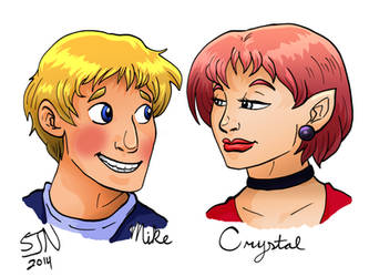 Bardsworth Fan Art--Mike and Crystal by 3Fangs