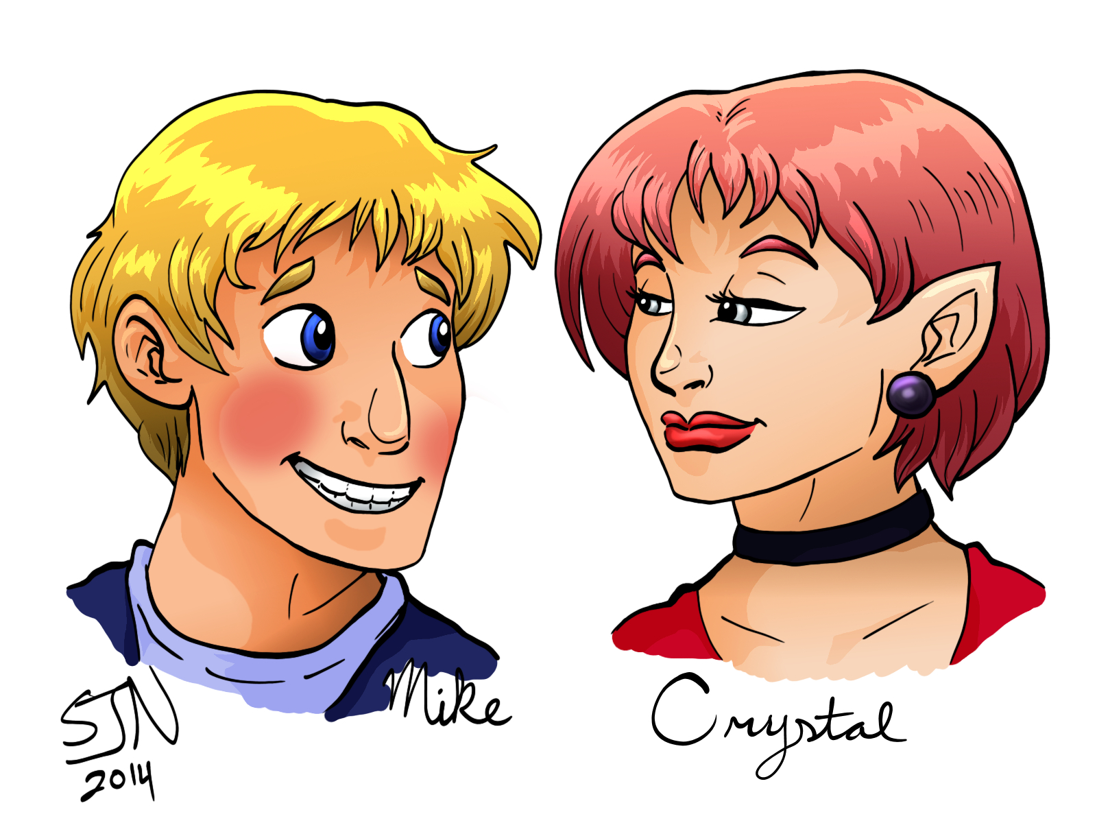 Bardsworth Fan Art--Mike and Crystal