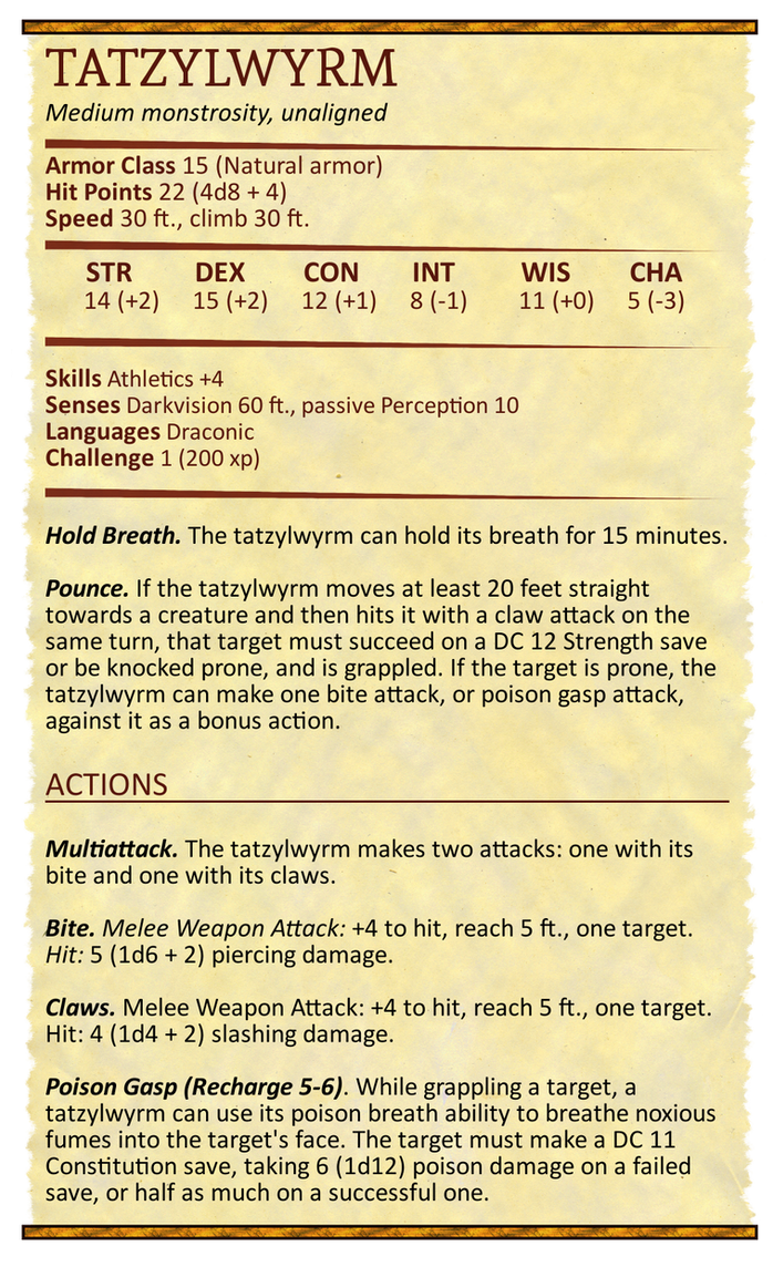 🏷️ Dnd homebrew monsters | Homebrew Monster Compendium