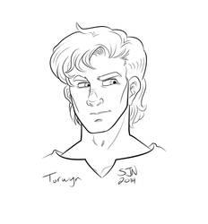 Torwyn Treed line art