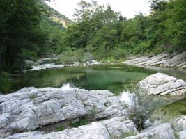 Mountain pool by Olgola