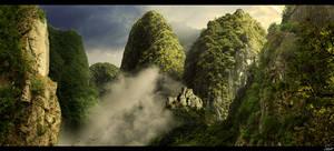 The mountain ridge