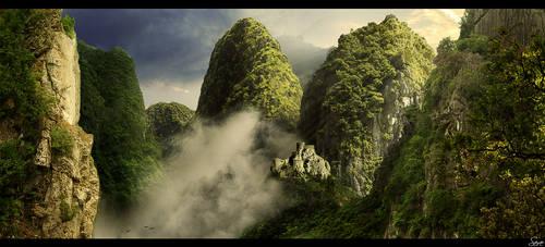 The mountain ridge by Olgola
