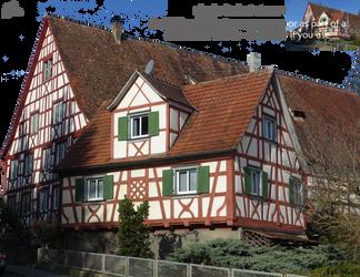 Medieval houses - PNG by Olgola