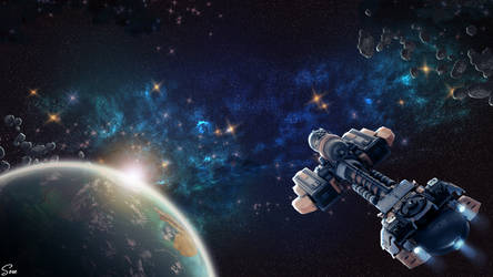 Lost in Space - Wallpaper by Olgola