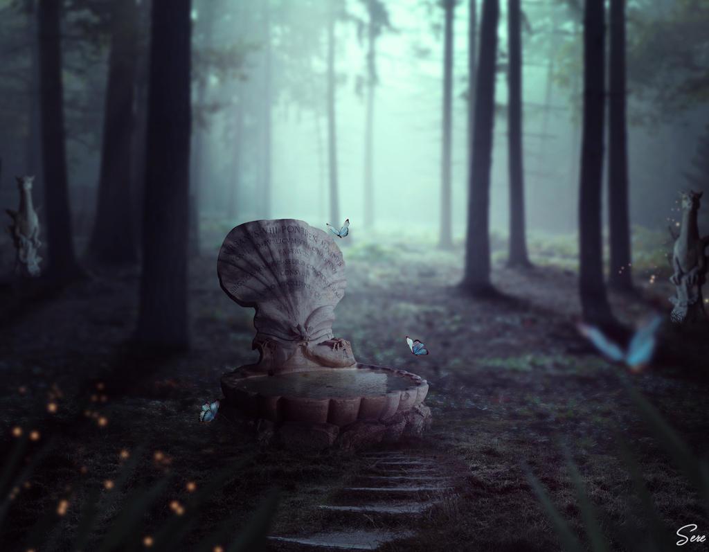 Sacred forest glade