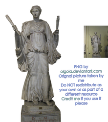 Statue 09 - PNG by Olgola