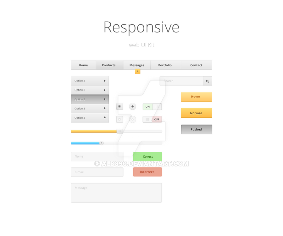 Responsive Web UI by ald890