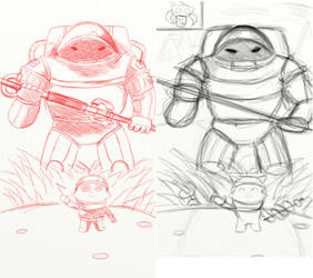 Rough Sketch (Don't touch teemo!) by Peaman94