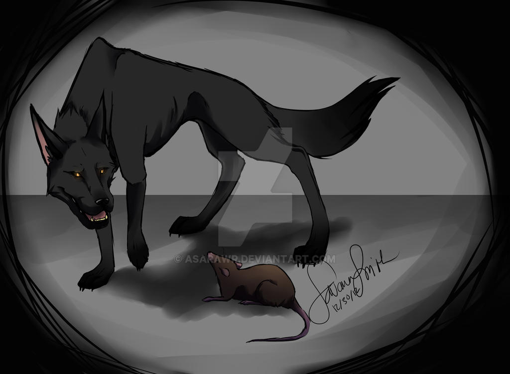 The Wolf and the Rat by AsaRawr