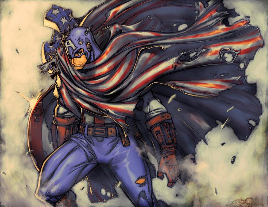 Captain America : Fallen Son by Z-control