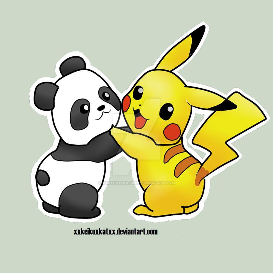 Panda Pikachu Hug by xXKeikoXKatXx on DeviantArt