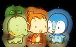Tiny Sinnoh Starters