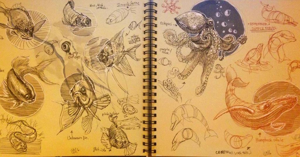 Dynamic sketching 9  by MiamoryHJ