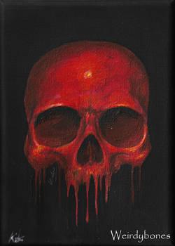 Blood Skull - Small acrylic canvas