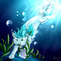 Gift Noko in the water by FlashRa