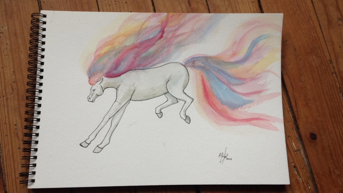 Fils des etoiles - Aquarelle by FlashRa