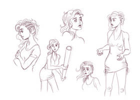 Pose/Expressions study by LadyChamomile