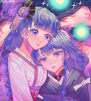 Makoto and Ei [ Genshin Illustration]