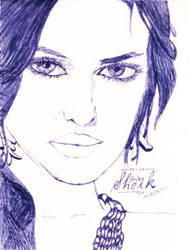 another Sketch :beauty closeup by AbhishekKr