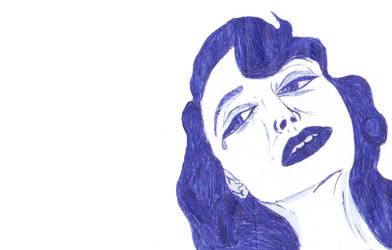 A Sketchy Lady 02 :pen-sketch: TEARS