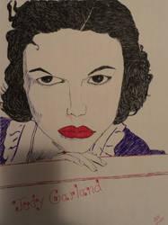 sketch attempt of Judy Garland
