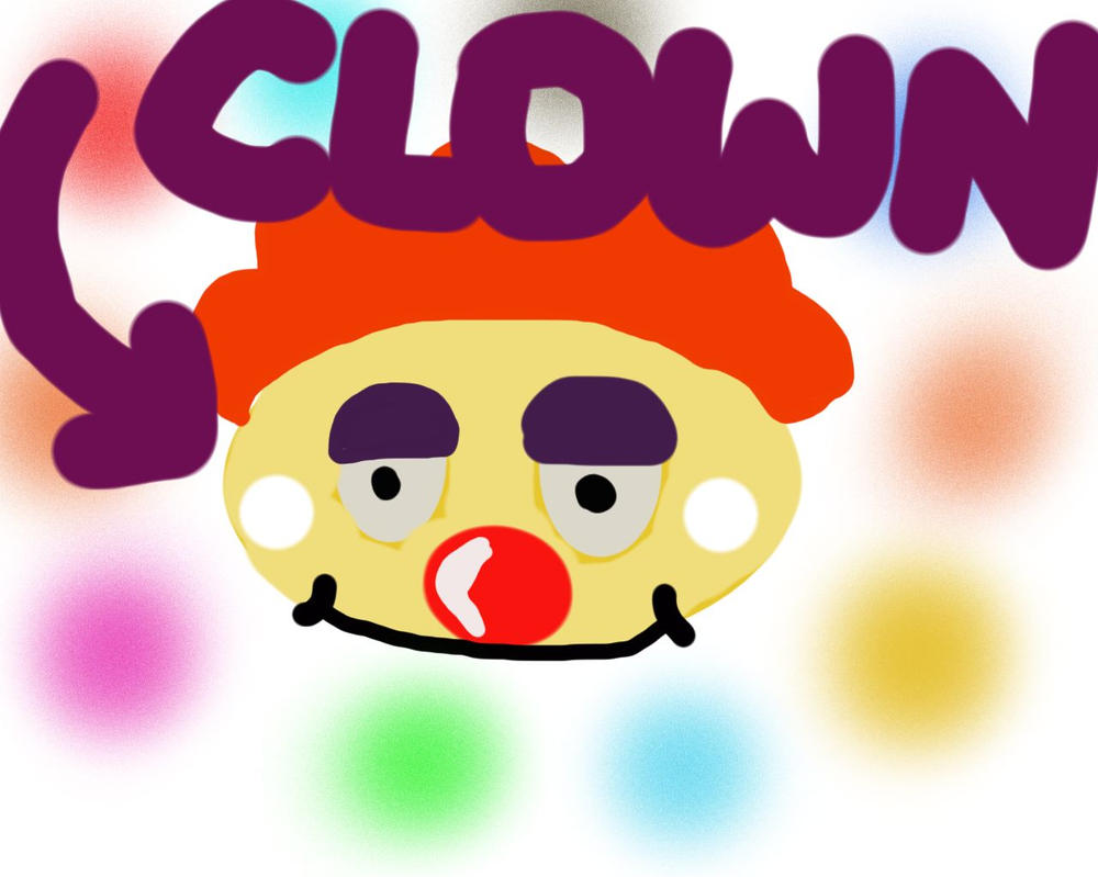 Crazy Cool Clown by InsideOutCake