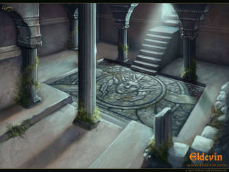 Eldevin - Exarch Tiaund's Mausoleum Entrance by LouisaGallie