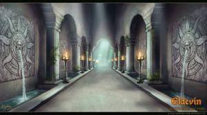 Eldevin - Exarch Tiaund's Mausoleum Halls by LouisaGallie
