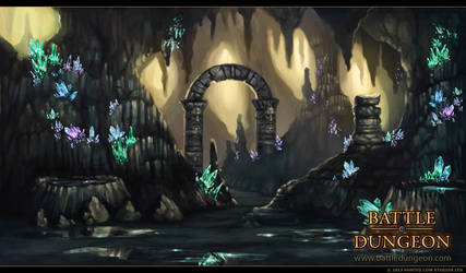 Battle Dungeon - Malachite Grotto by LouisaGallie