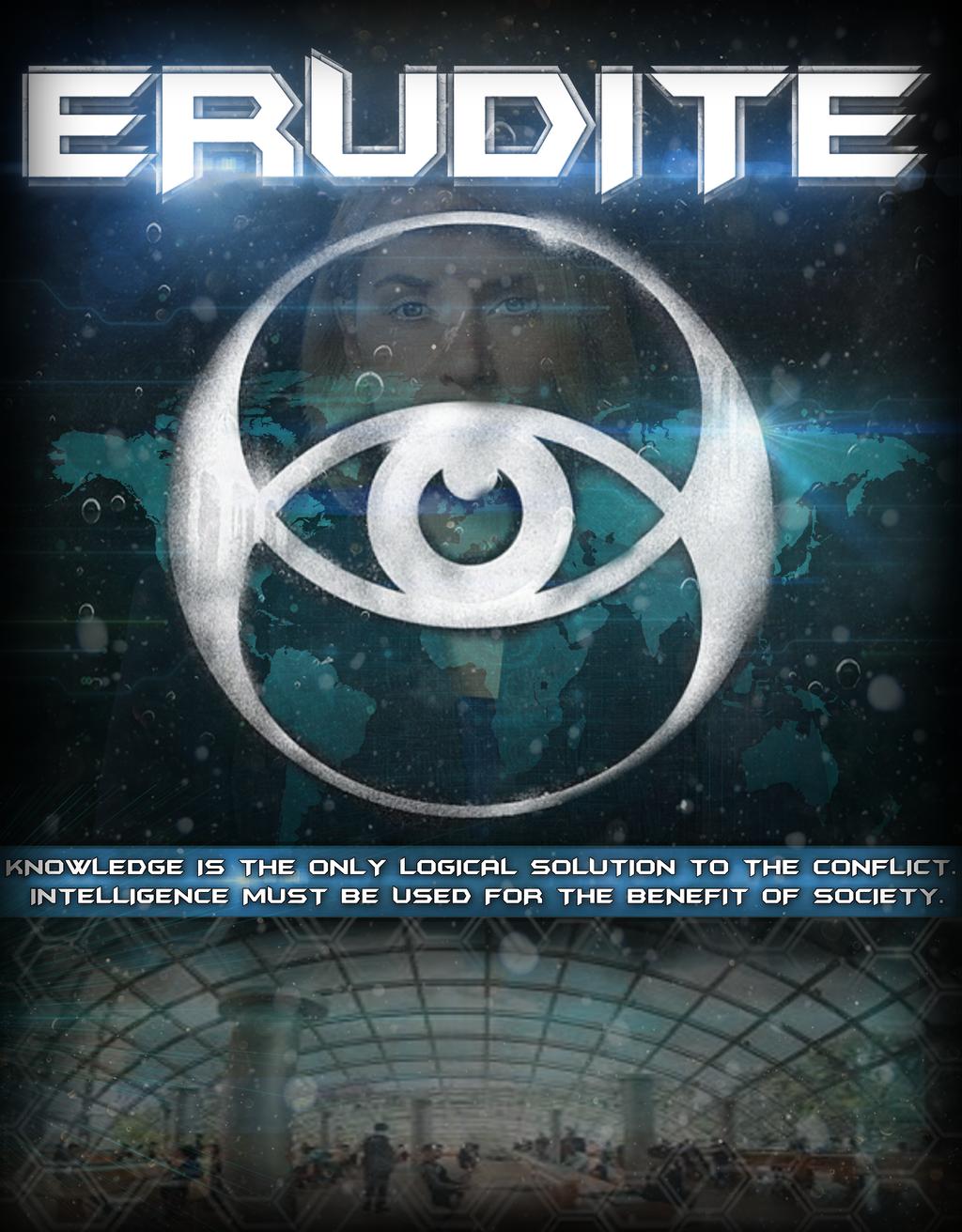 divergent faction poster erudite by vertigodesigns1 on