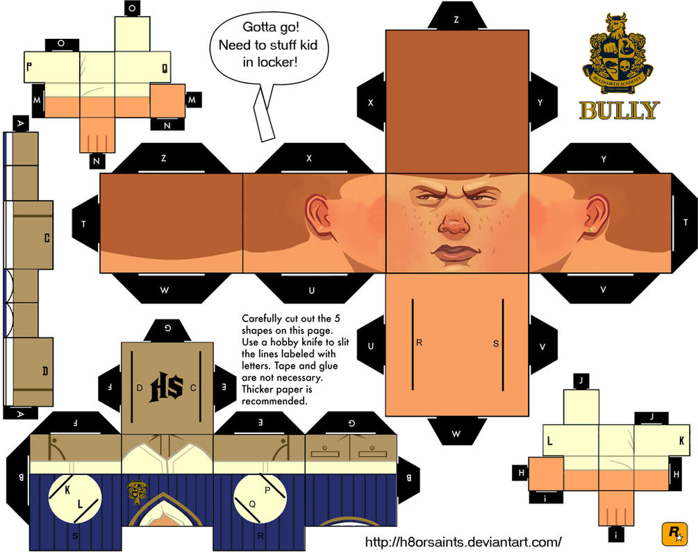 Bully Papercraft by H8orSaints