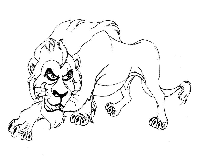 Scar 1 by jvel4073 on deviantart for Lion king scar coloring pages