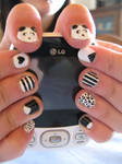 Black and White Nails (With Pandas)