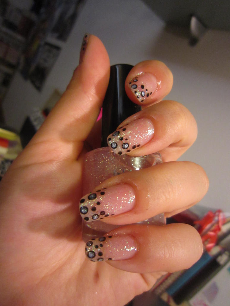 Glitter Pois Nails by oMARUo