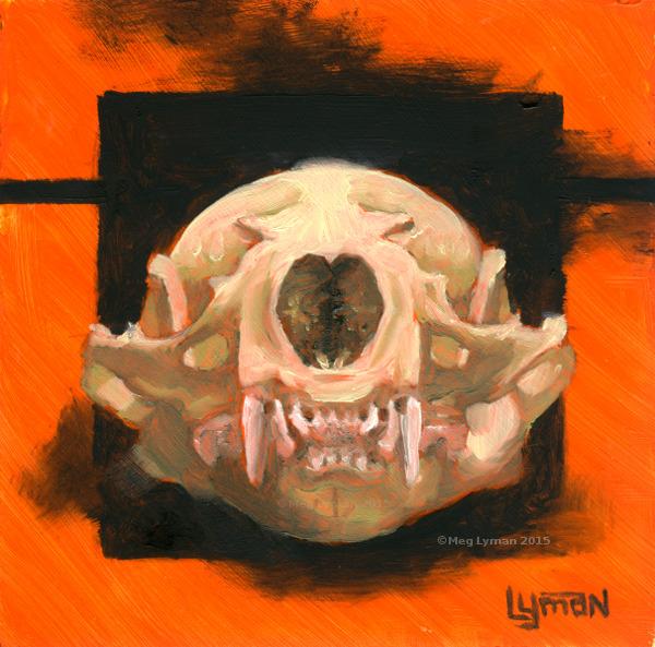 Orange Otter by MegLymanArt