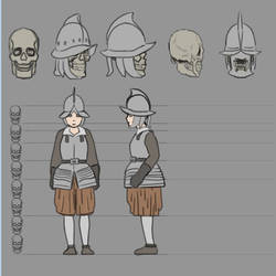 Study: Soldier Helmet and Armor (pages 6 and 7)