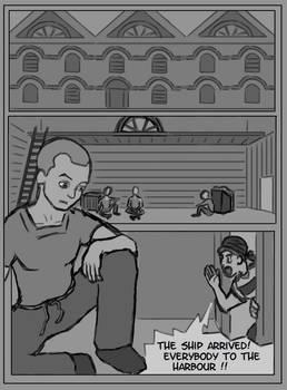 Making a Manga Page 9 V.1 Harbour Warehouse Kontor