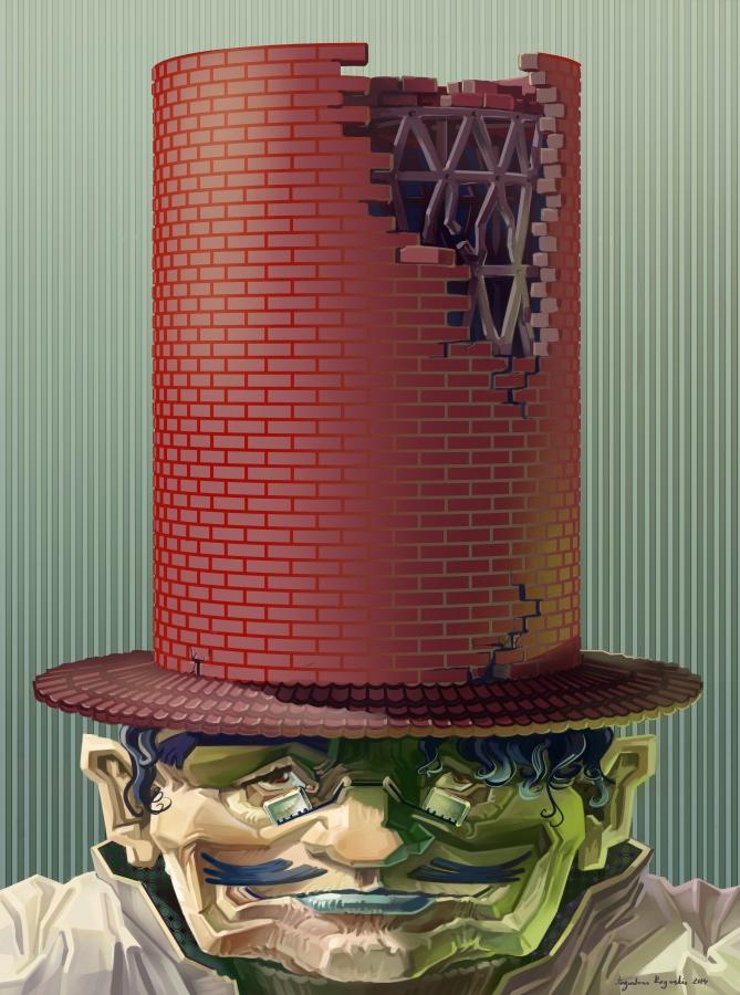 Hat Man by AugustinasRaginskis