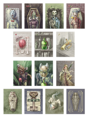 Cadaver card game illustrations by AugustinasRaginskis