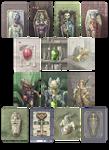 Cadaver card game illustrations
