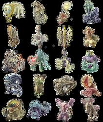 Spirit Monsters by AugustinasRaginskis