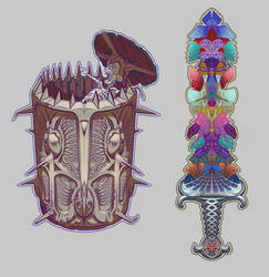 Sword and Shield ( from Collection Perfection) by AugustinasRaginskis
