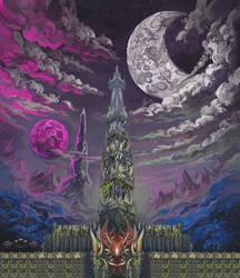 Purple Moon by AugustinasRaginskis