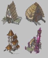 Medieval Houses by AugustinasRaginskis