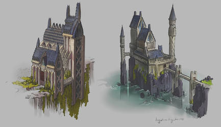 Castle Concepts by AugustinasRaginskis