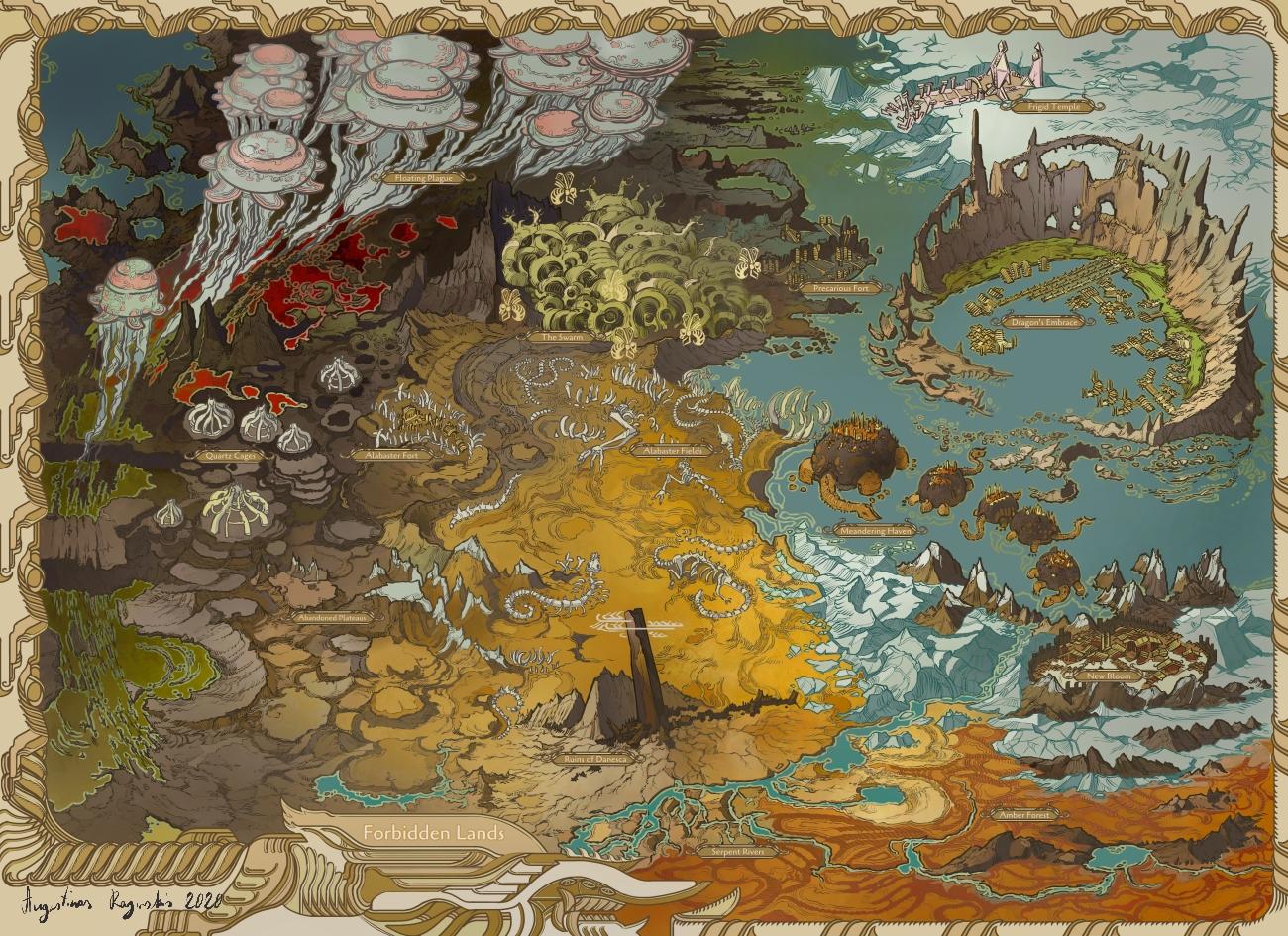 Forbidden Lands Map