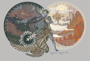 Goddess Of Light And Dark by AugustinasRaginskis